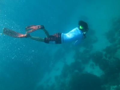 空き時間に素潜りの練習@シミラン諸島NO.8