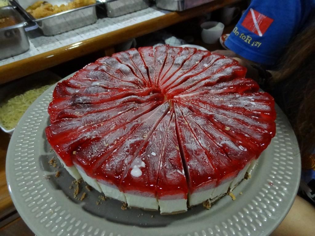 デザートのケーキ!